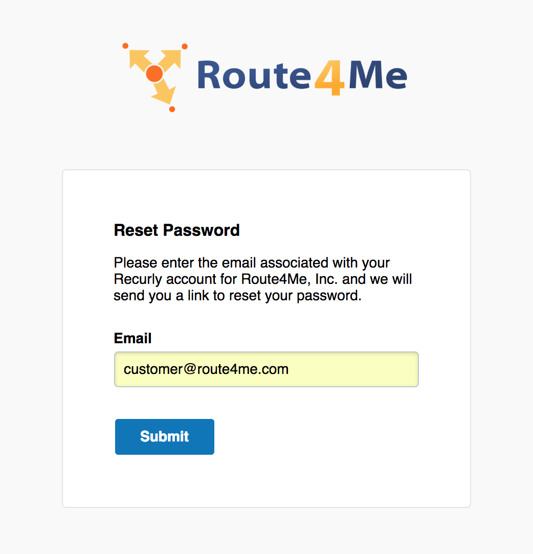 Updating your Route4Me Billing Information
