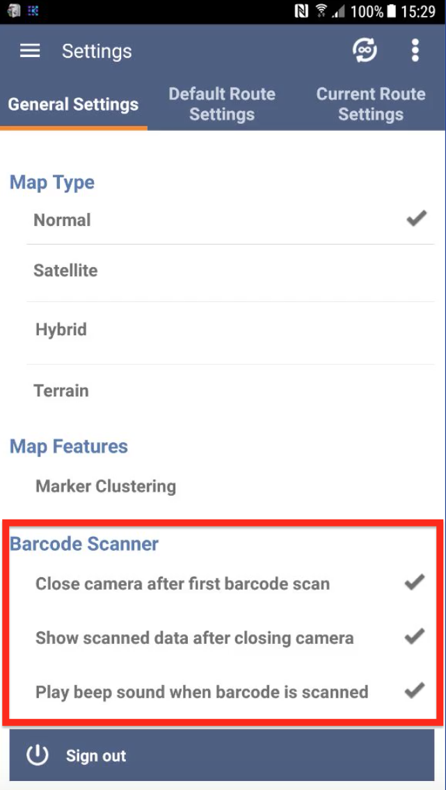 Use Route4me's Barcode Scanner for fast and secure data input