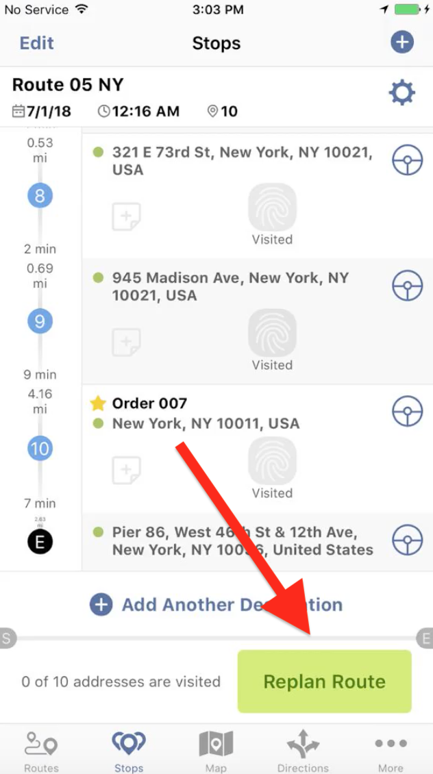 Insert Orders into Planned Routes with Route4Me's iPhone App