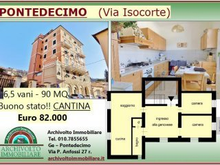 Foto 1 di Trilocale via Isocorte 8, Genova (zona Pontedecimo)
