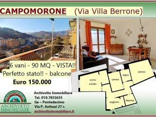 Foto 1 di Trilocale via Villa Berrone 9, Campomorone