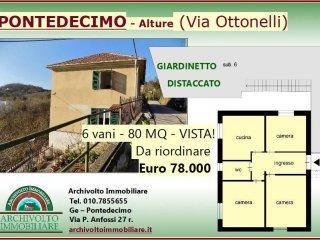 Foto 1 di Trilocale via Ottonelli, Genova (zona Pontedecimo)