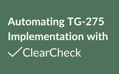 Automating TG-275 Implementation with ClearCheck