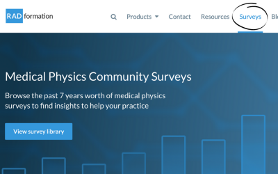 Medical Physics Community Surveys