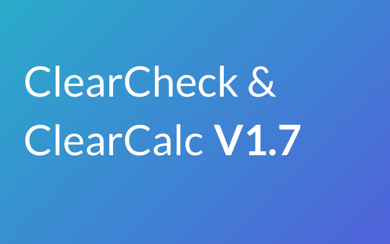 ClearCheck and ClearCalc V1.7