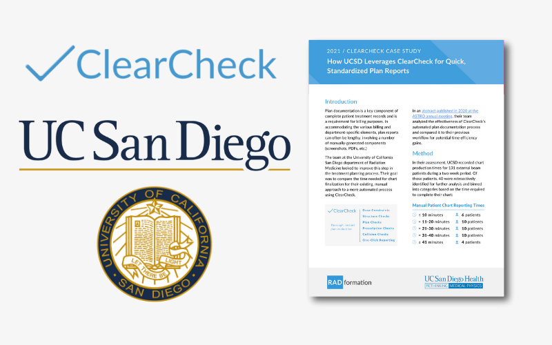 UCSD ClearCheck Case Study
