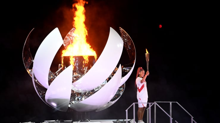 Tennis star Naomi Osaka lights cauldron at Tokyo 2020 Olympic Games in opening ceremony