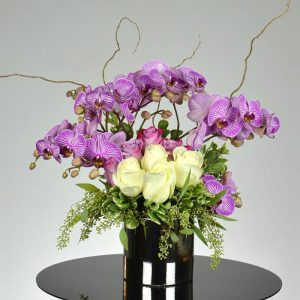 send-purple-orchid-and-roses-arrangement-in-san-anselmo-ca