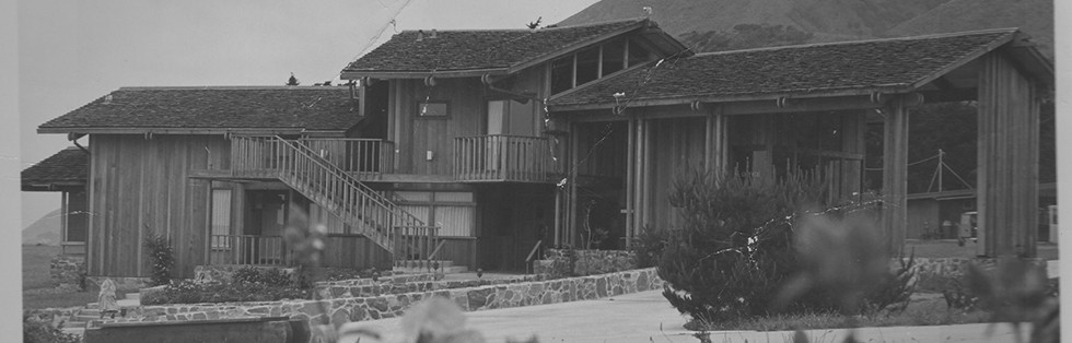 old black and white photo Ragged Point Inn