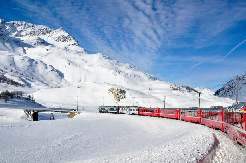 Bernina Express in WInter
