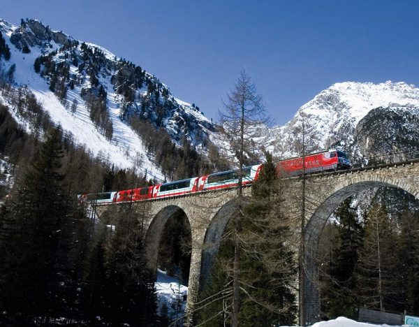 First Class Glacier Express at New Year   Great Rail 1