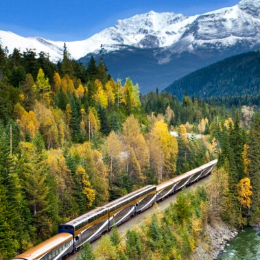 Canadian Rockies Express with Rocky Mountaineer from Banff   Railbookers 1