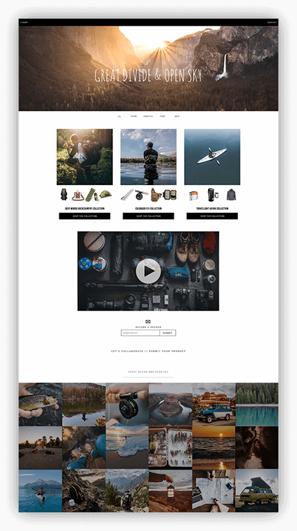 example ambassador blog shop
