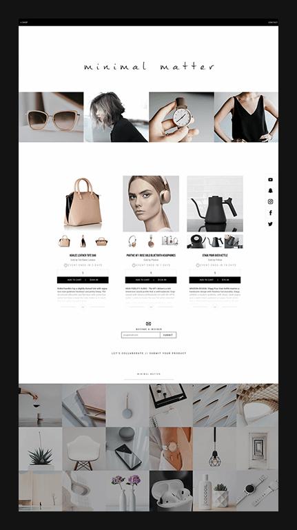 example fashion shop