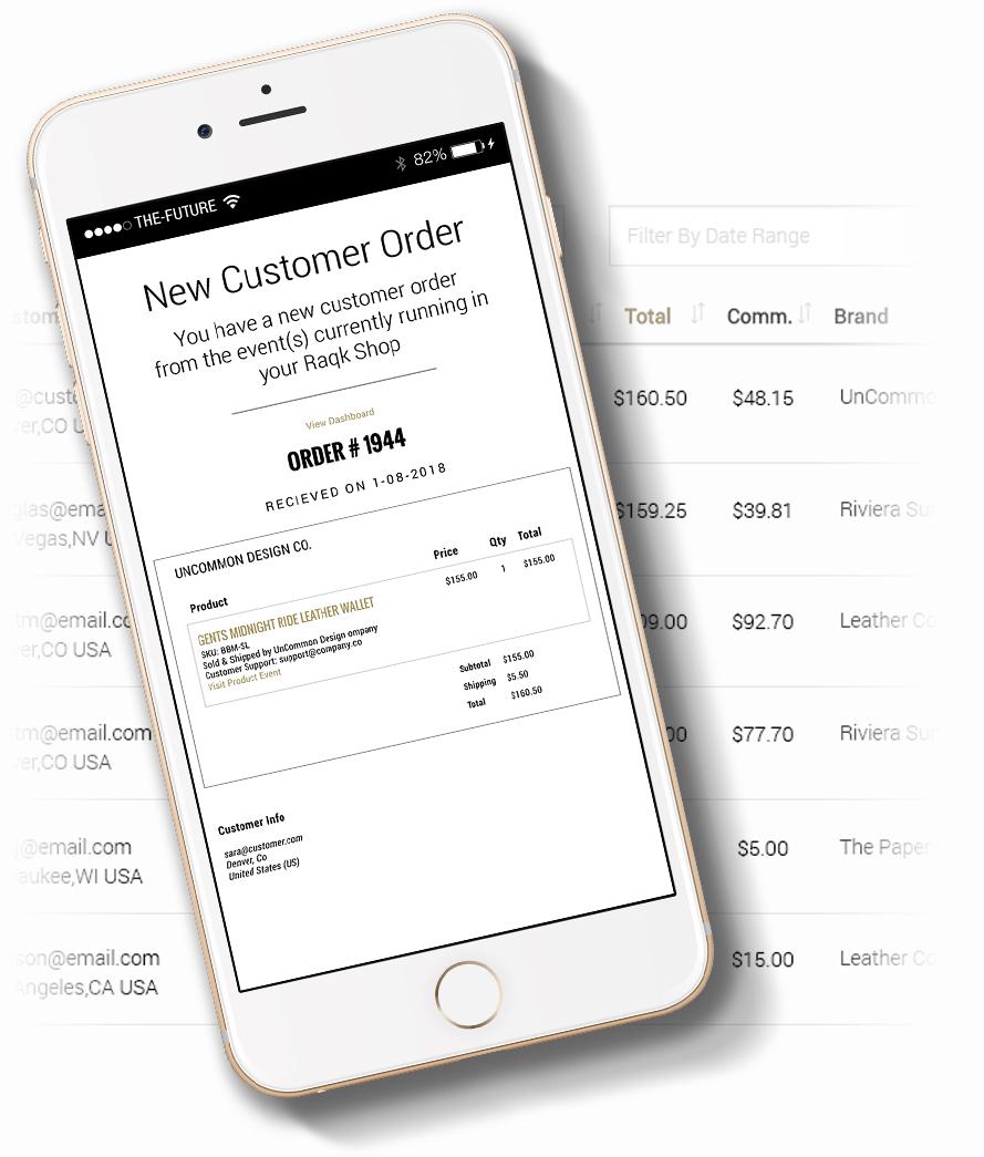 raqk popup shop realtime payment