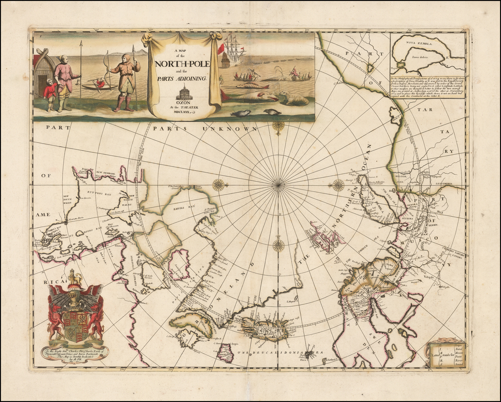A Map of the North-Pole and the parts Adioining . . . MDCLXXX By Moses Pitt