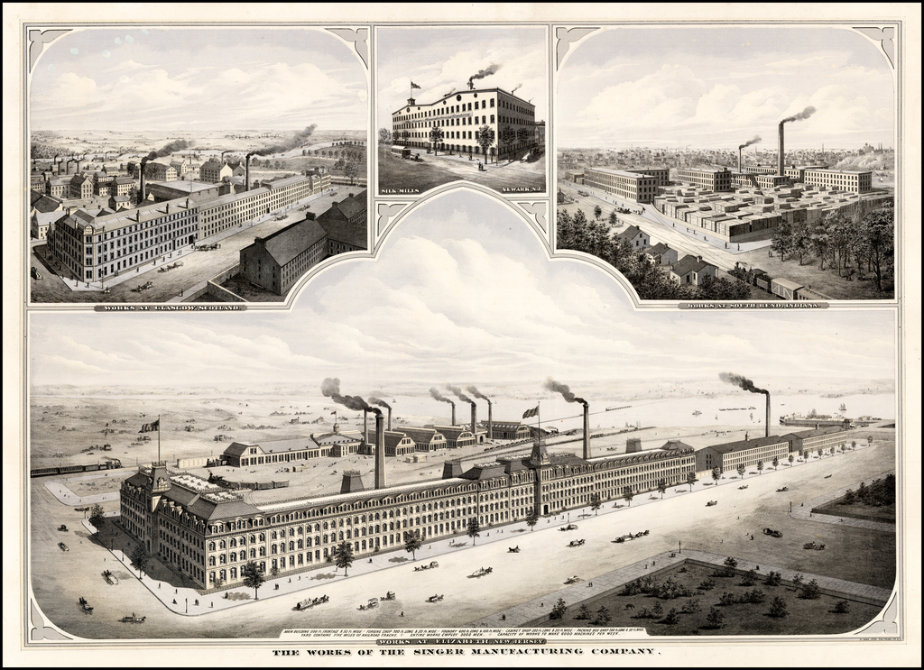 Works of the Singer Manufacturing Company  (Works at Elizabeth New Jersey) By H. Ihne