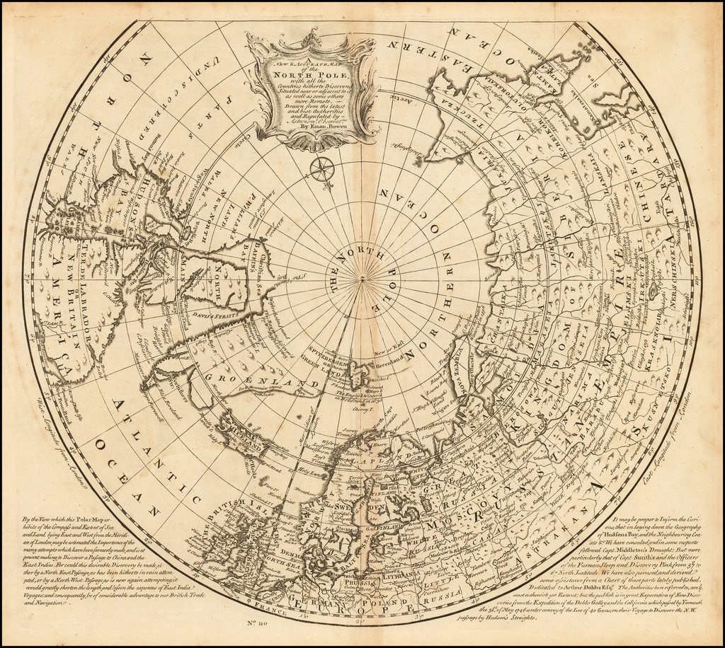 A New & Accurate Map of the North Pole, with all the Countries hitherto Discovered . . . By Emanuel Bowen