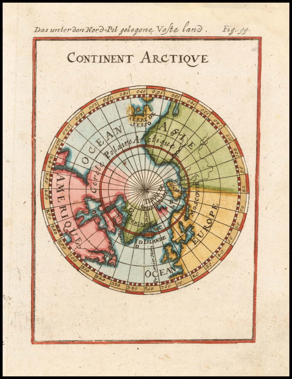 Continent Meridional Austral ou Antarctique By Alain Manesson Mallet