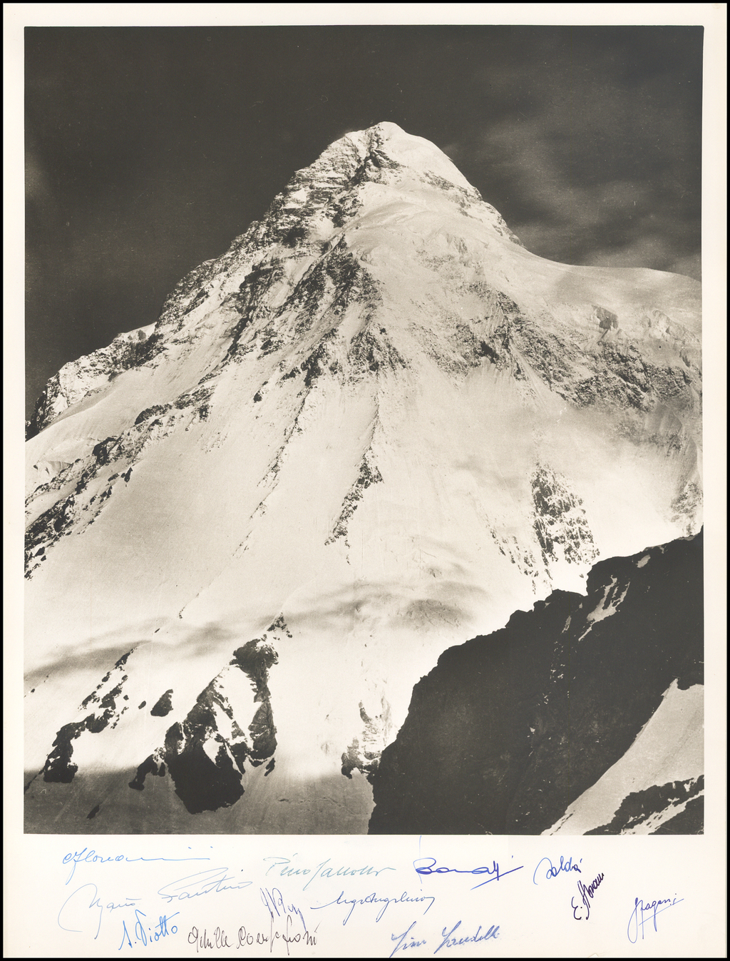 K2 - Southeast Face / Duke of Abruzzi Expedition (Signed By 1954 Italian Climbing Team) By Vittorio Sella