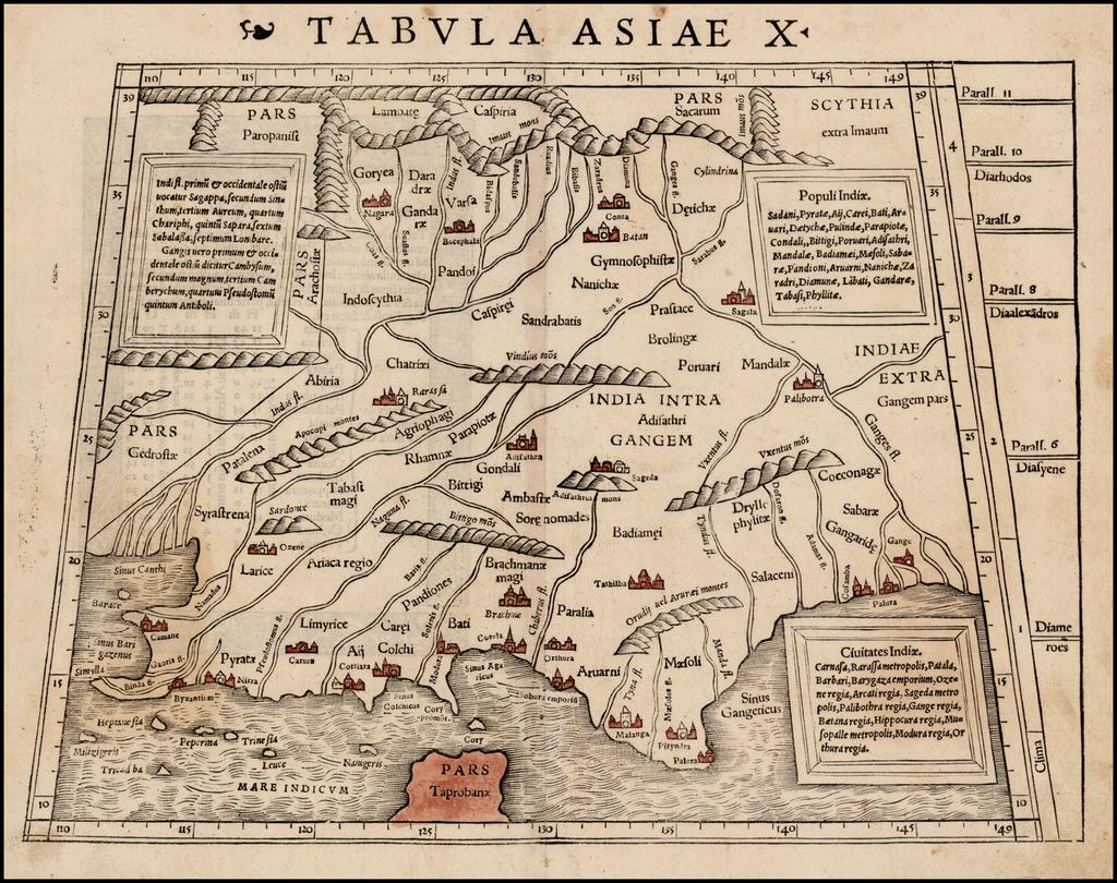 Tabula Asiae X [India] By Sebastian Münster