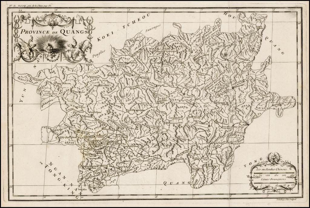 Province De Quang-si By Jean-Baptiste Bourguignon d'Anville