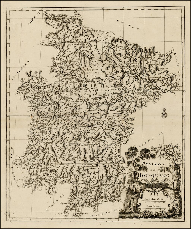 Province De Hou-Quang By Jean-Baptiste Bourguignon d'Anville