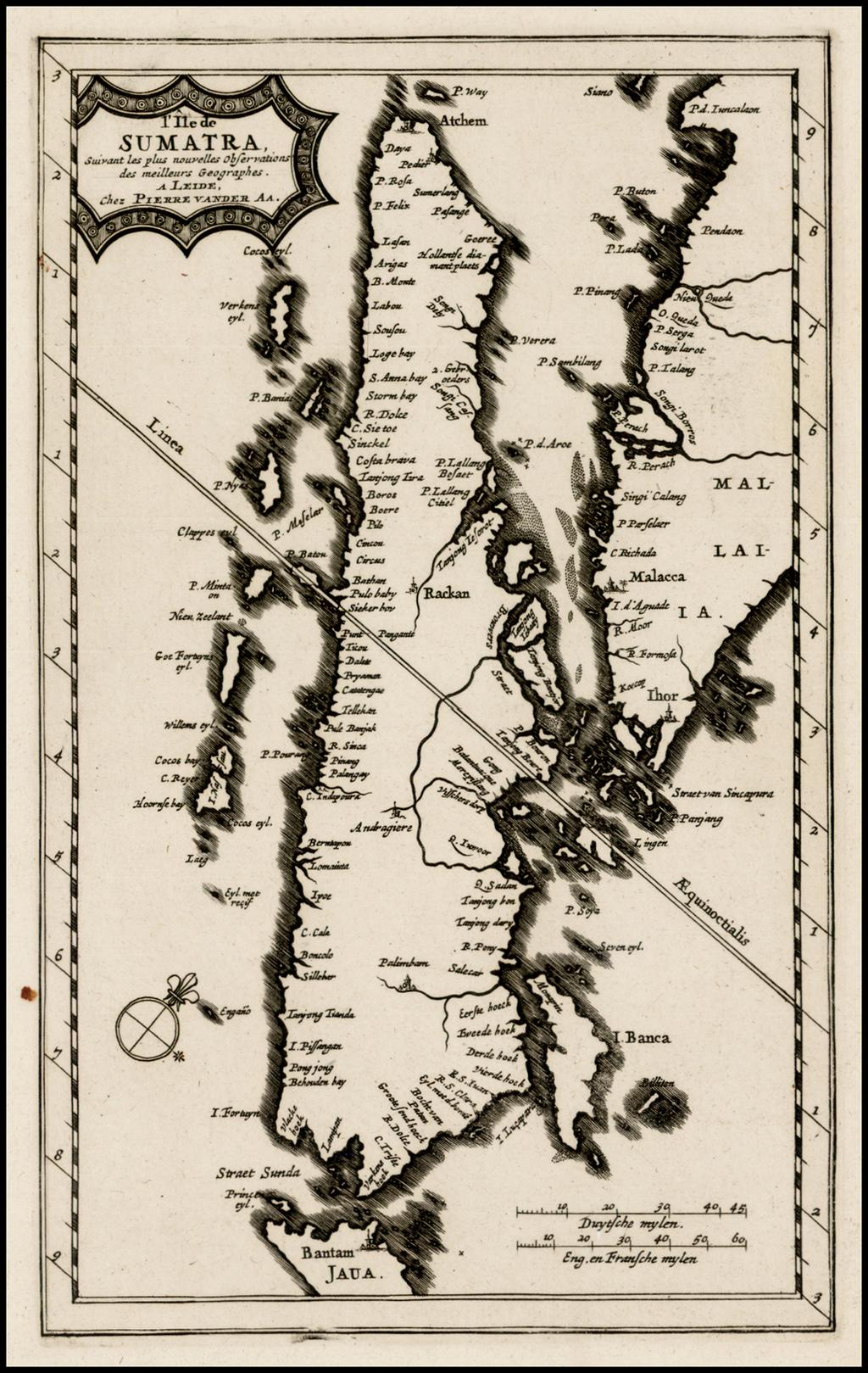 l'Ile de Sumatra . . .  By Pieter van der Aa