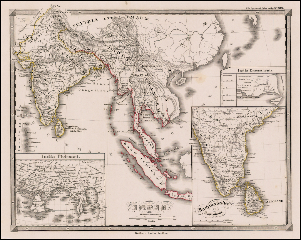 India (with insets of India Ptolemaei and Dachinabades et Taprobane By