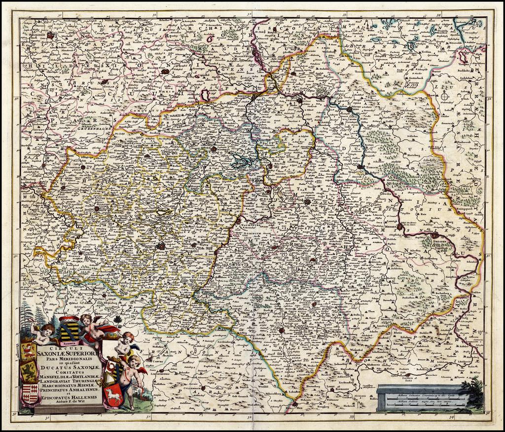 Circuli Saxoniae Superiori Pars Meridionalis . . . (Gold leaf highlights) By Frederick De Wit