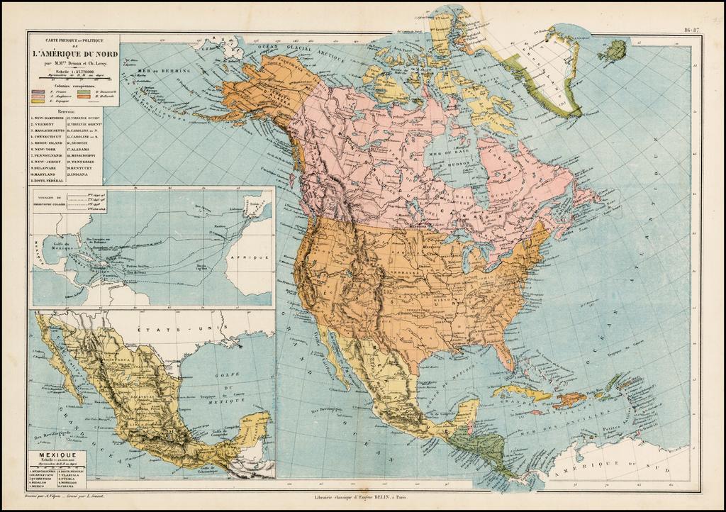 3d Isométrique Amérique Du Nord Carte Physique Des éléments