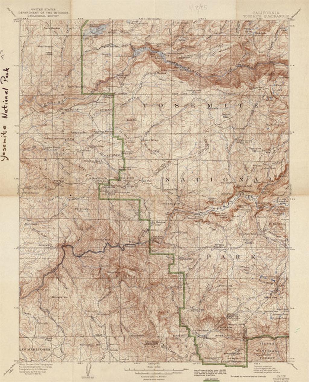 California Yosemite Quadrangle - Barry Lawrence Ruderman Antique ...