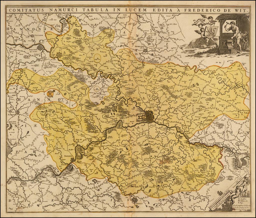 Comitatus Namurci Tabula In Lucem Edita A Frederico De Wit By Frederick De Wit