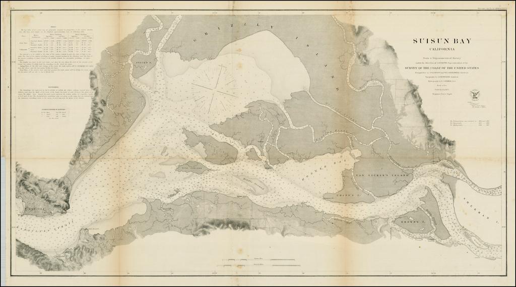 Suisun Bay California Fraom A Trigonometrical Survey . . . 1872 By United States Coast Survey
