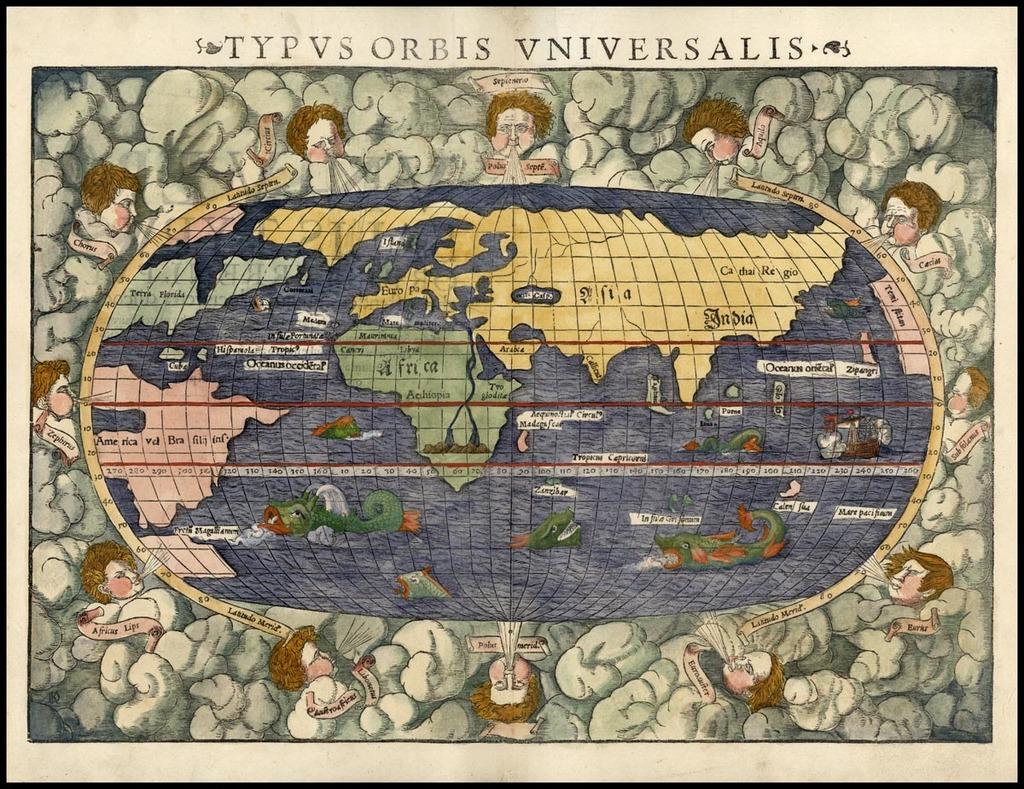 Typus Orbis Universalis By Sebastian Münster