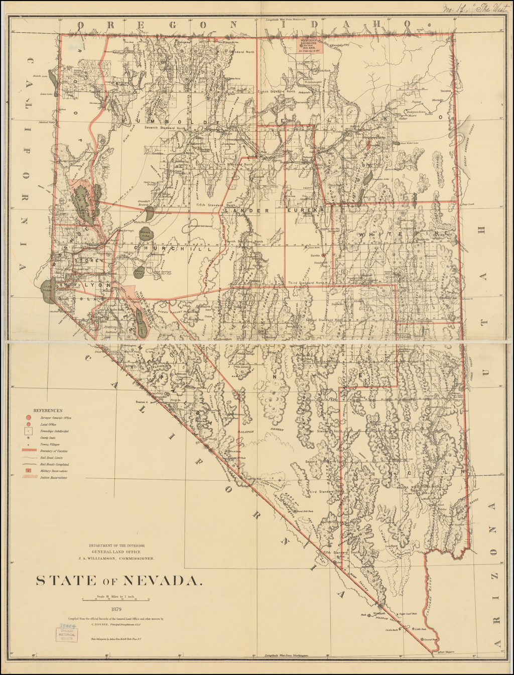 State of Nevada . . . 1879 By General Land Office