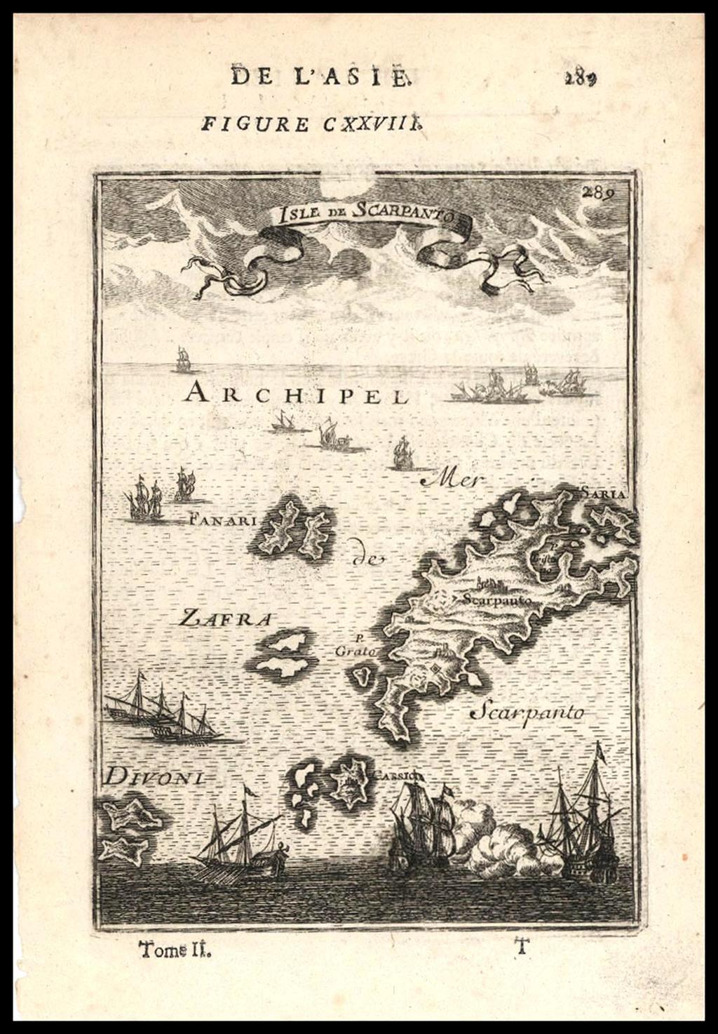 Isle De Scarpanto (also Fanari, Zafra, Divoni etc.) By Alain Manesson Mallet