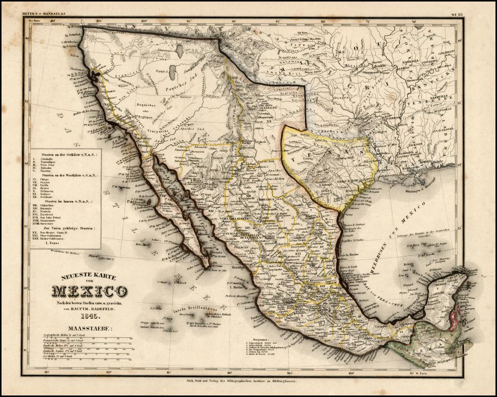 Neueste Karte Von Mexico 1845 Texas As A Republic Barry