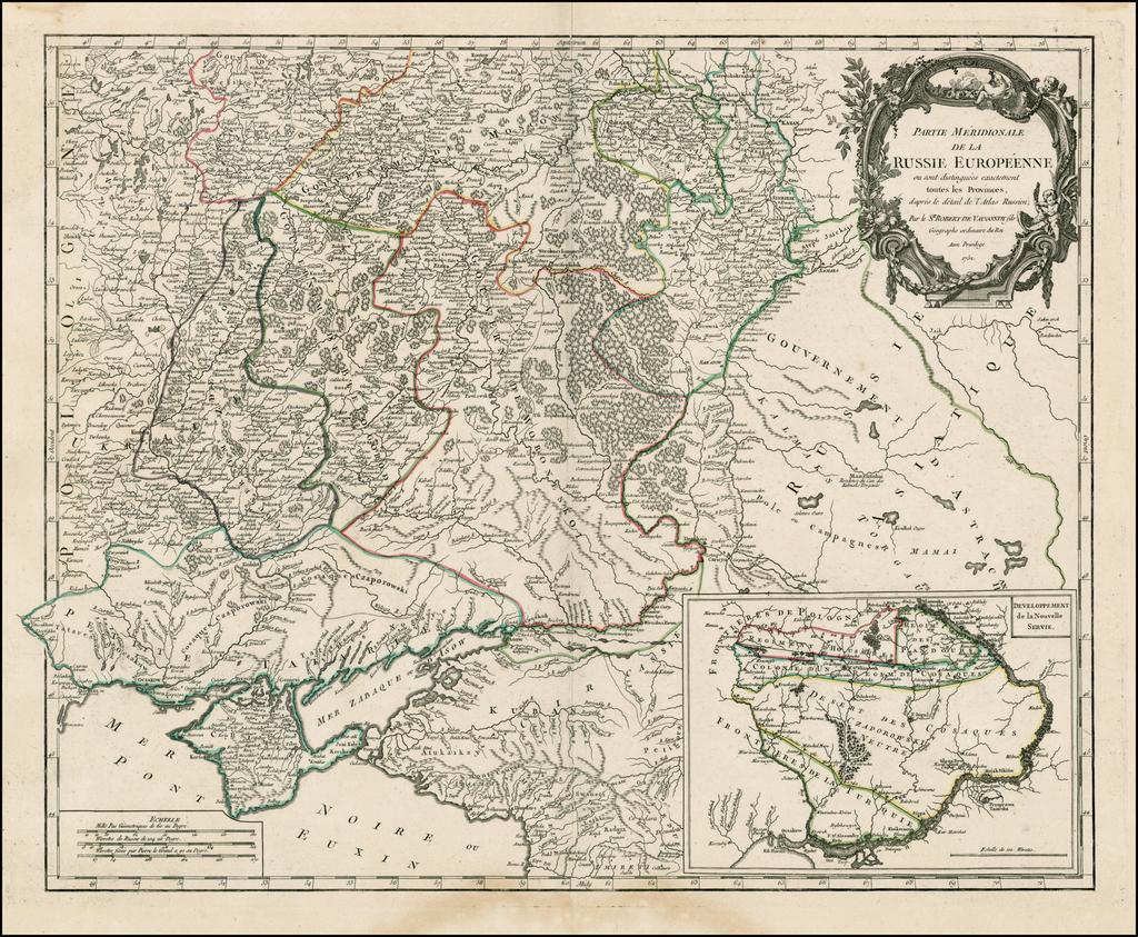 Partie Meridionale De La Russie Europeene . . . 1754 By Didier Robert de Vaugondy