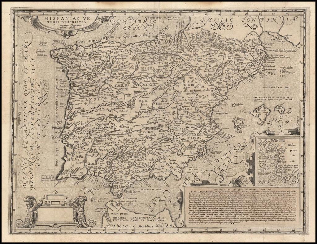 Hispaniae Veteris Descriptio By Andreas Schottus