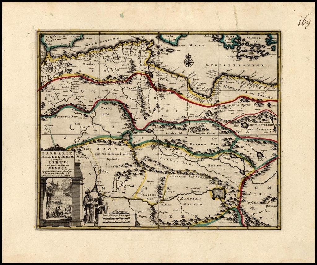 Barbarie, Biledulgerid (autrefois Libye) et une partie du Pays des Negres . . . By Pieter van der Aa