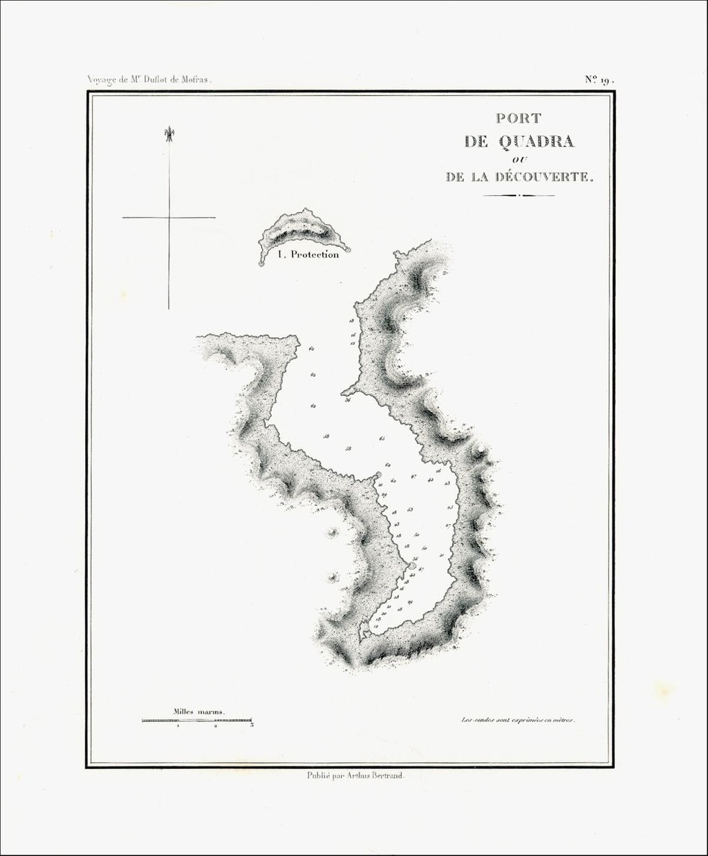 [Discovery Bay, Washington]  Port de Quadra ou De La Decouverte By Eugene Duflot De Mofras