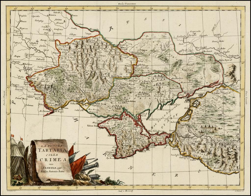 La Piccola Tartaria Colla Crimea . . . 1798 By Antonio Zatta