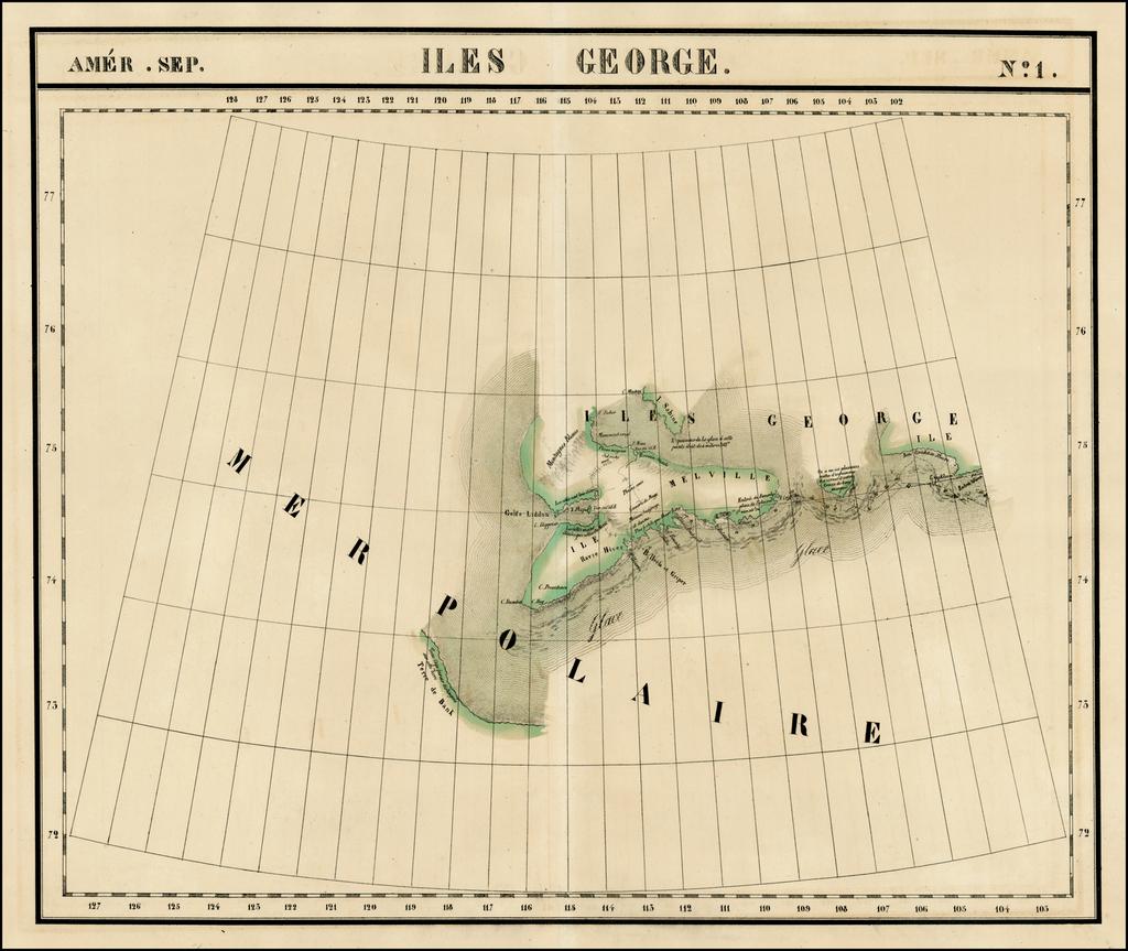 Amer. Sep. No. 1. Iles George By Philippe Marie Vandermaelen