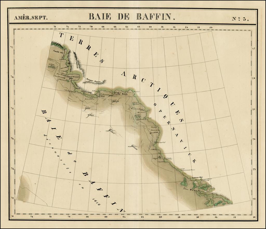 Amer. Sep. No. 3.  Baie Baffin By Philippe Marie Vandermaelen