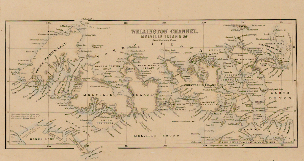 Wellington Channel,  Melville Island &c. from Admiralty Chart By Anonymous