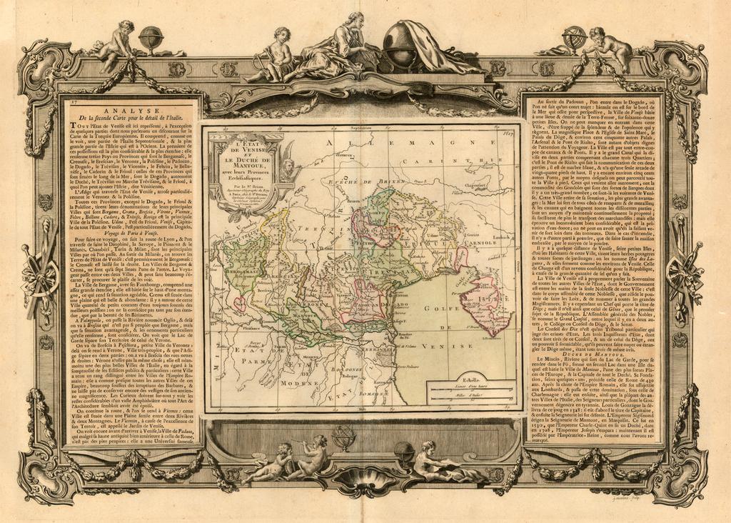 L'Etat De Venise et Le Duche De Mantoue, avec leurs Provinces Ecclesiastiques … 1766 By Louis Brion de la Tour