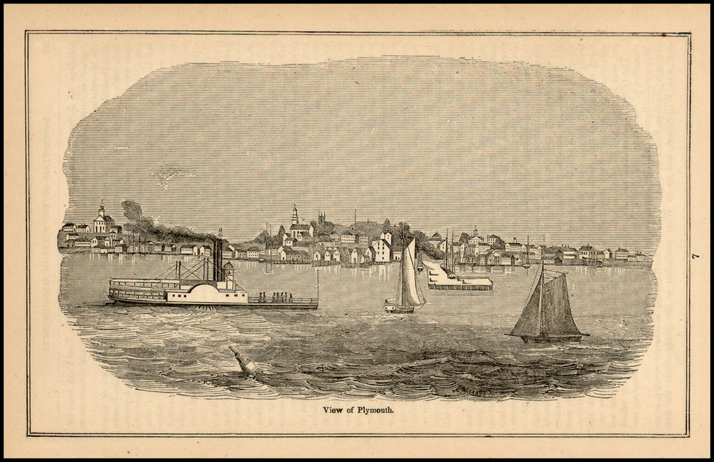 View of Plymouth By John Warner Barber