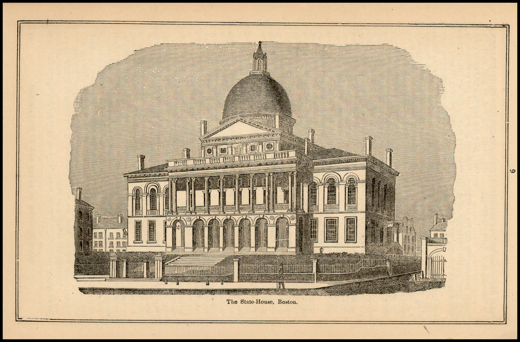 The State House, Boston By John Warner Barber