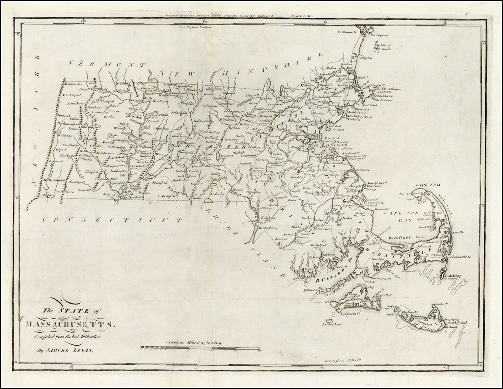 The State of Massachusetts Compiled from the best Authorities, By Samuel Lewis. By Mathew Carey